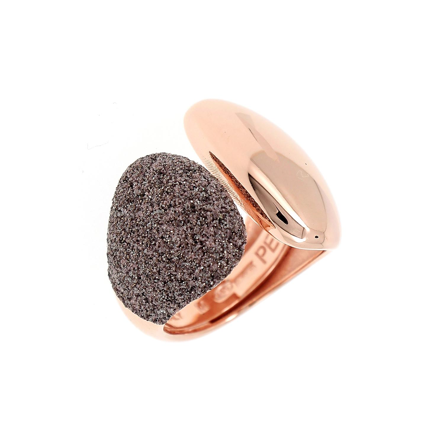 Ring for Women, Rose Gold, Silver, 2017, One Size Pesavento